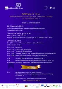 Obchody Jubileuszu 50-lecia Wydziału Ekonomiczno-Socjologicznego Uniwersytetu Łódzkiego