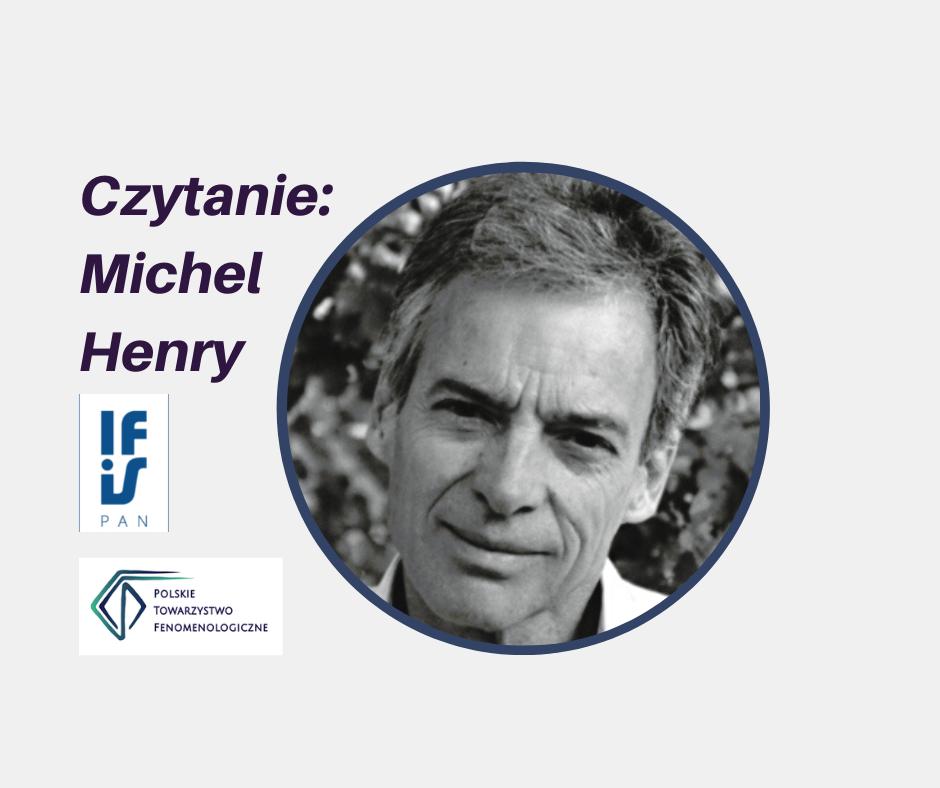 Twarz filozofa Michel Henry w kółku