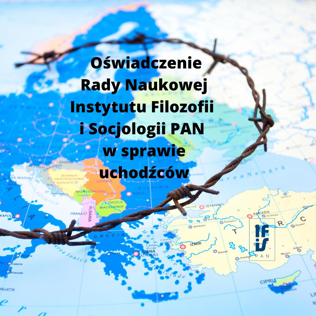 Mapa Wschodniej Europy z drutem kolcazstym odcinającym granicę